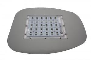Modulo led montado en chapa soporte acople vial vista frontal