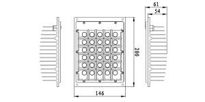 Modulo LED cotas 600x300